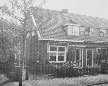 De woning Schoutenbosch 16, waar het gezin na evacuatie ging wonen.
