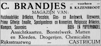 Magazijn van C. Brandjes.