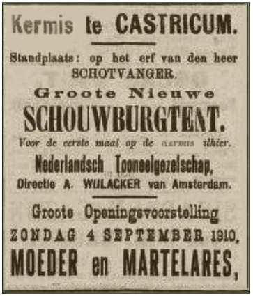 Advertentie in Katholiek Nieuwsblad van 3 september 1910.