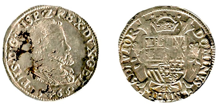 1/5 Philipsdaalder, 1566, Gelderland, Philips II (1556-1598).