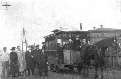 De paardentram naar Duin en Bosch bij de Kramersweg.