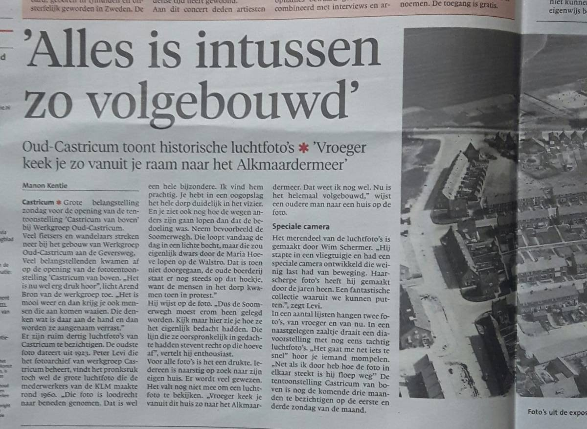 Noordhollands Dagblad over Castricum van Boven