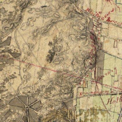 Kaart Zanderij 1857.