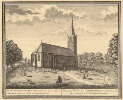 Gravure van de kerk uit 1732