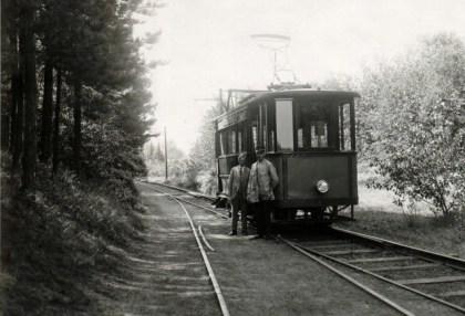 Electrische tram Duin en Bosch.