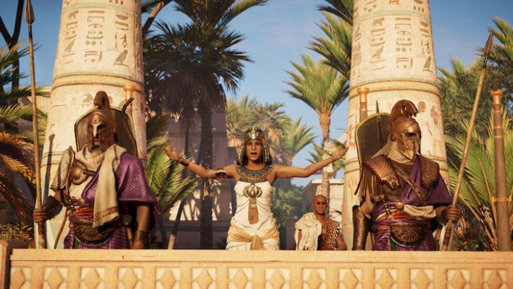 Cleopatra, een oriëntaalse verschijning