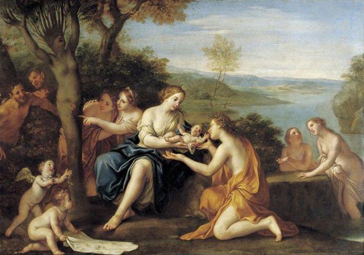 De geboorte van Adonis, Marcantonio Franceschini, 1690