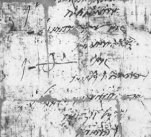 pridianum met een theta naast de overleden soldaat