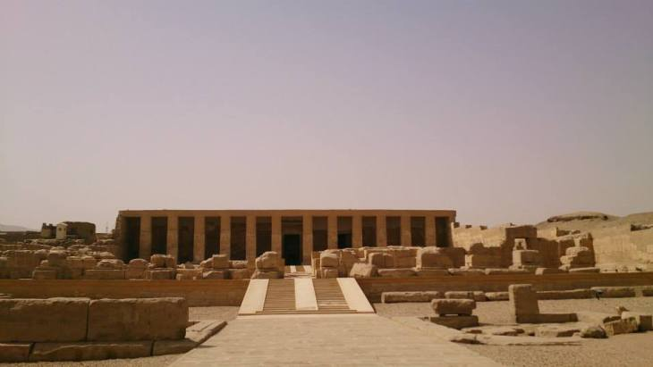 De tempel van Seti I in Abydos