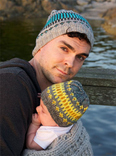 Papa en bijpassende babymuts breien  Ouderwets Breien