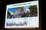 Vergelijken van de metingen bij straten in de buurt