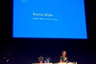 Bianca Wylie, digitale rechten activist in Toronto