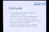 De conclusies van de modelstudie (lage) geluidsschermen.