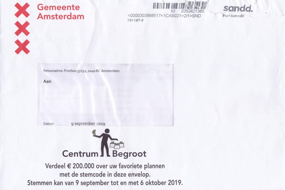 Centrum Begroot Stemmen