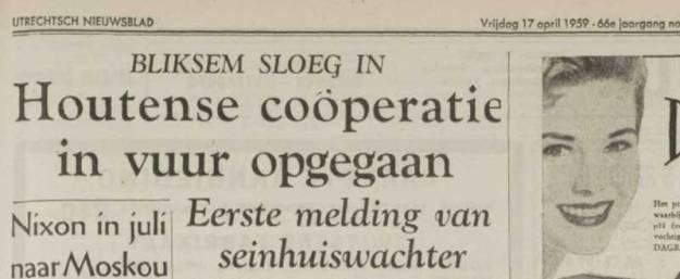 Brand Maalderij in het Utrechts Nieuwsblad