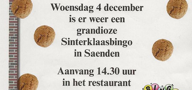 Grandioze Sinterklaasbingo in Saenden