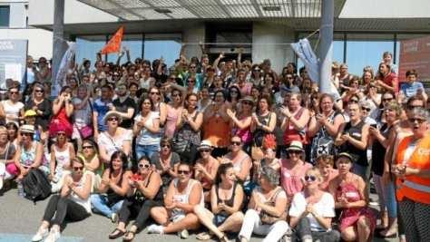 le personnel de Santé Atlantique est en grève
