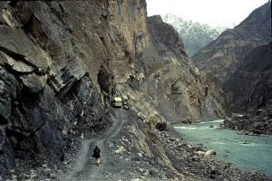 The Pamir 'highway' between Dush and Khorog.
