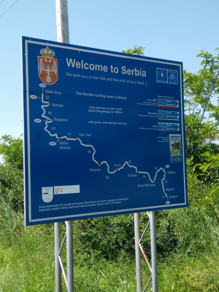 Welcome sign to Serbia