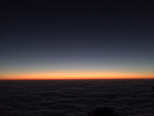 Sunrise over the sea of clouds
