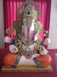 Ganesha, god of obstacles, study and prosperity