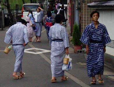 Classical Japanese hot spring fashion