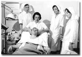 Ihonhoitoa 1960-luvun alussa