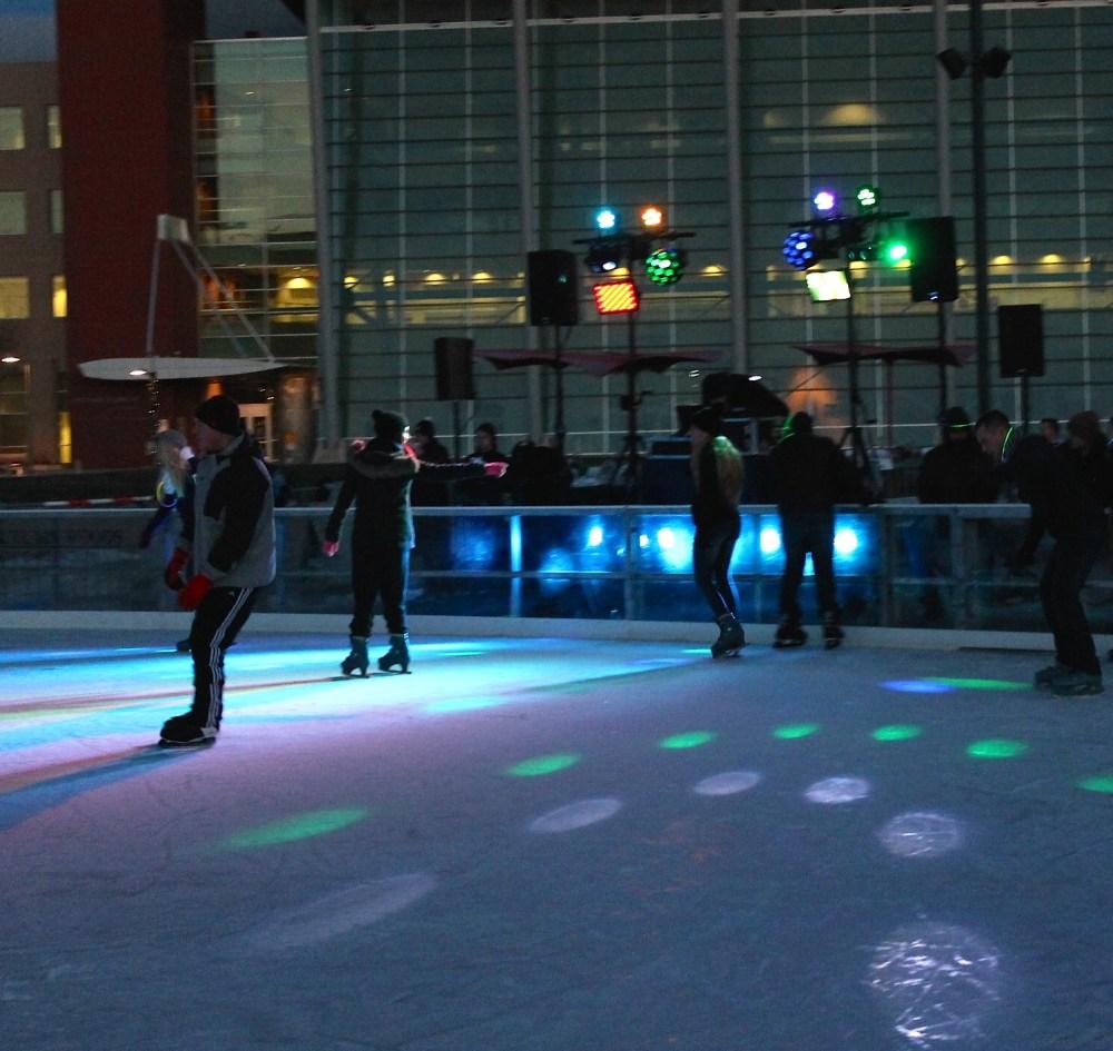 medium resolution of instagram follower eddieuuu071 captures the holiday hockey rink lights warren skaters glide to the glow