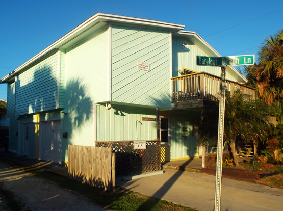 Our Beach House exterior in the morning sun