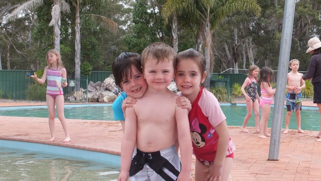Kids enjoying the pool