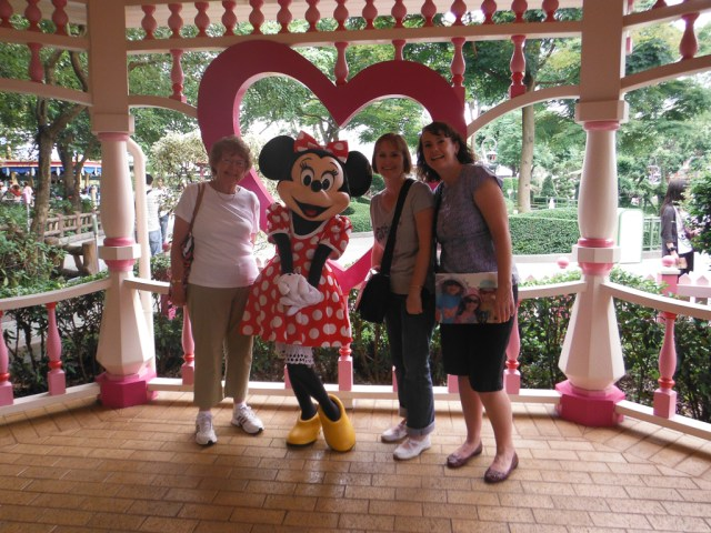 All of us with Minnie Mouse