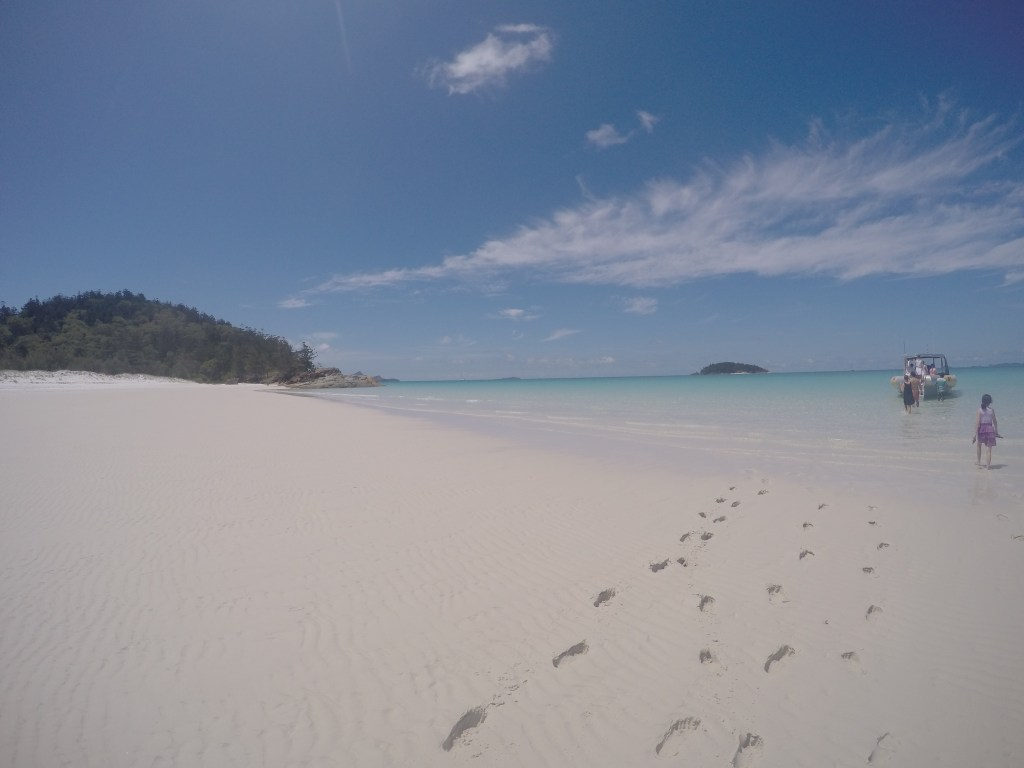 Whitehaven Beach - footprints