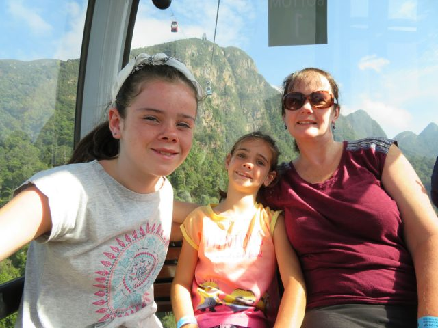 The girls in the gondola!