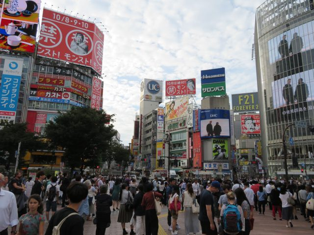 Shibuya scramble crossing!