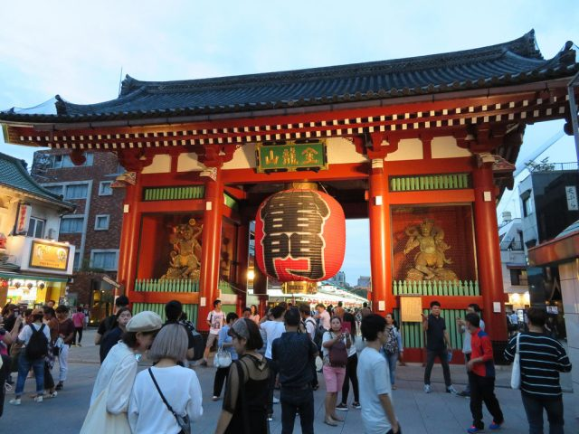 Senso-Ji Temple entrance, just a few steps from the Asakusa Station entrance
