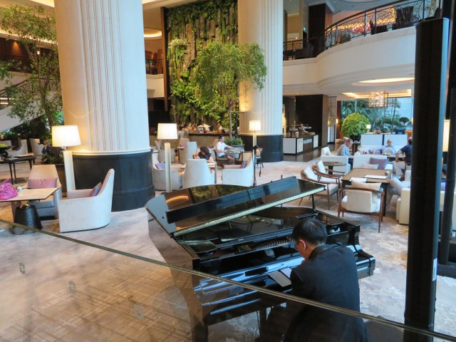 The Lobby Lounge becomes a piano bar of an evening.