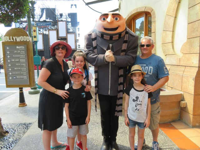 Family shot with Gru from the Minions.