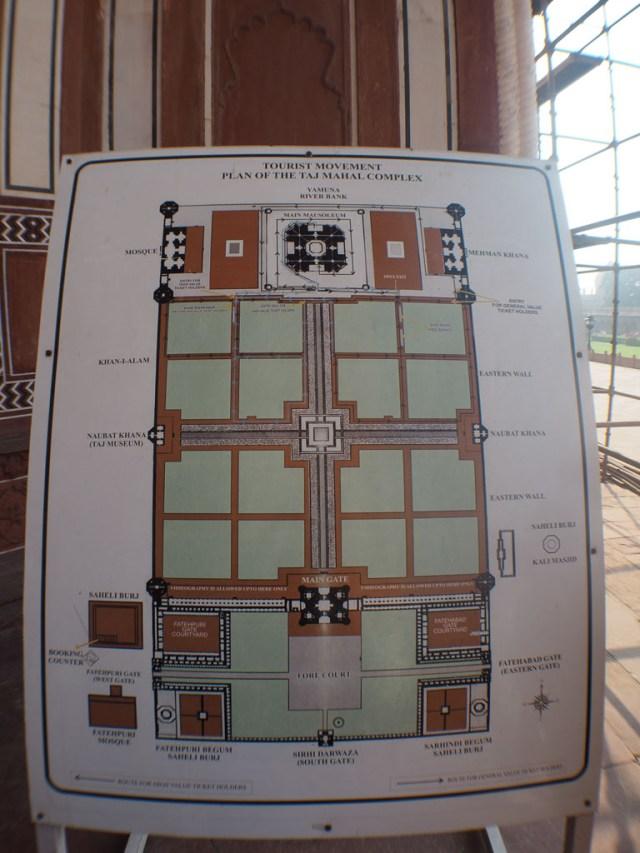 Map of the Taj Mahal