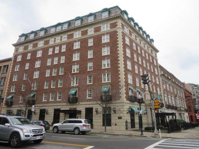 The Eliot Hotel, Boston on Commonwealth Ave.