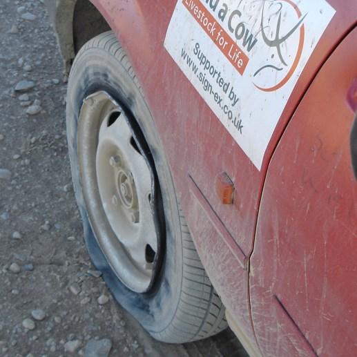 Very flat tyre