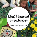 Four Things I Learned in September