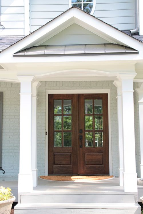 After gathering lots of Pinterest farmhouse entry door inspiration I went to our local building supply store. I priced similar doors from them and compared ... & Farmhouse Entry Door Shopping + Choosing Ours - Our Alabama Life