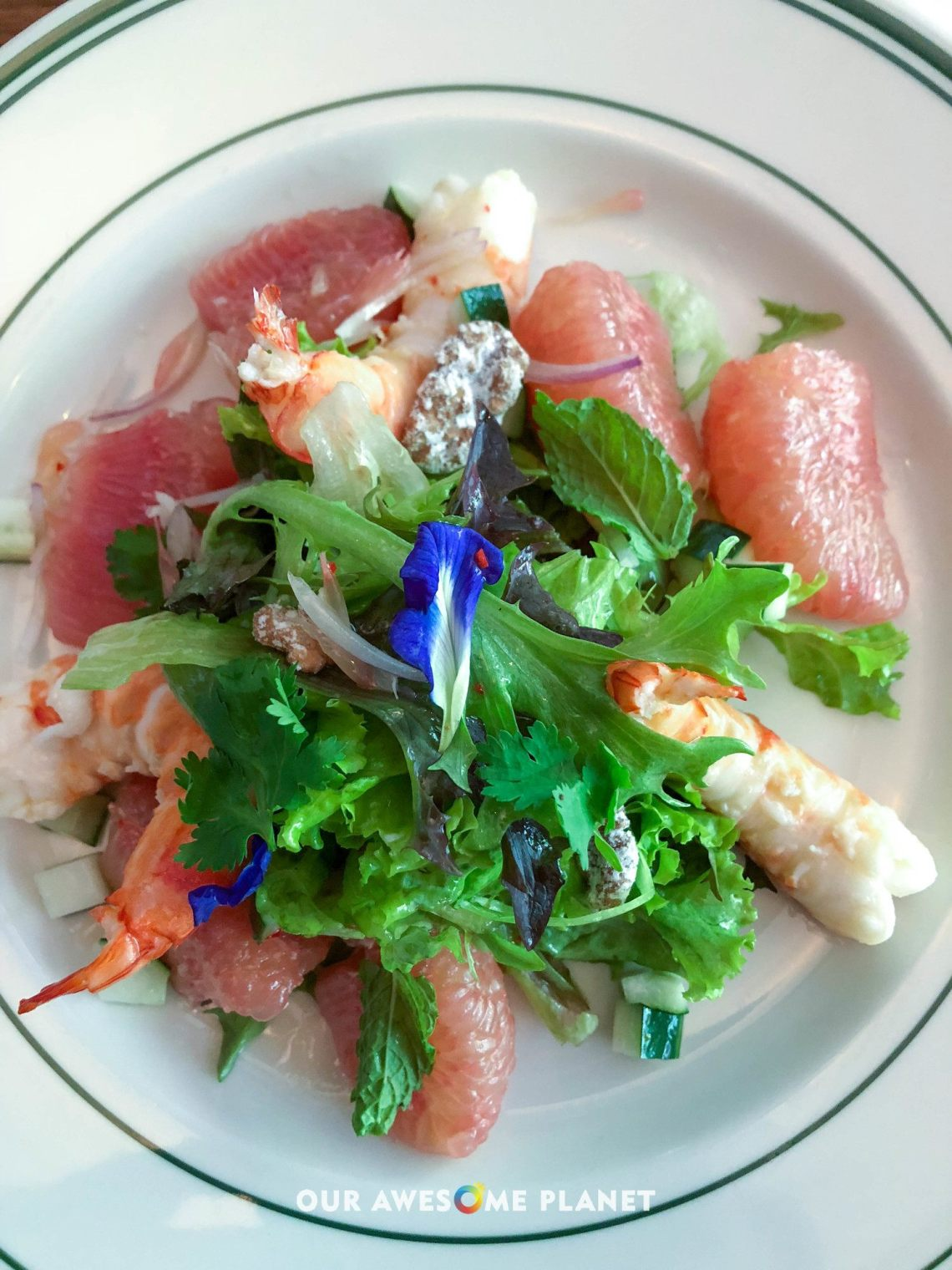 Shrimp and Pomelo Salad