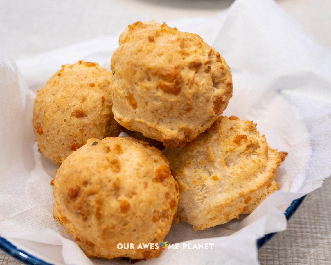 Freshly Baked Cheddar Bay Biscuits