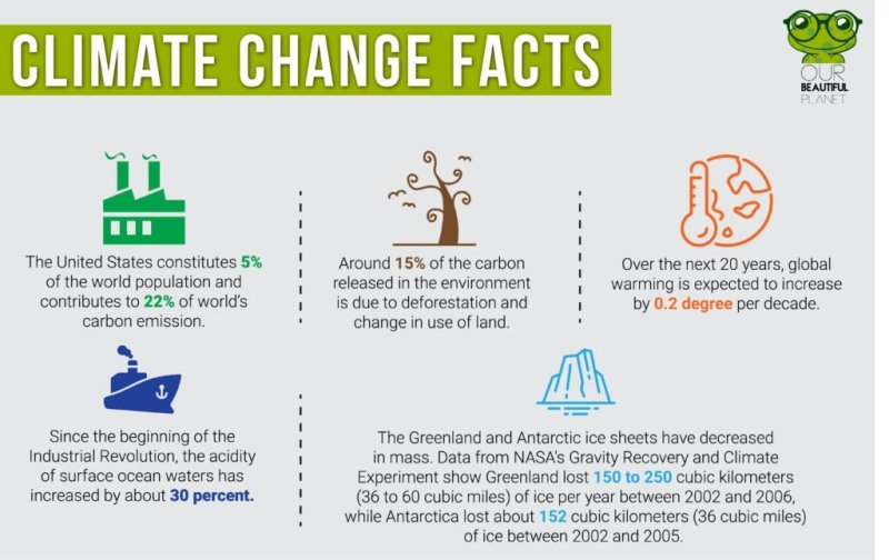 Climate Change Facts Infographic