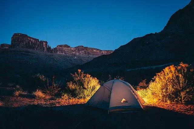 Tent in wilderness