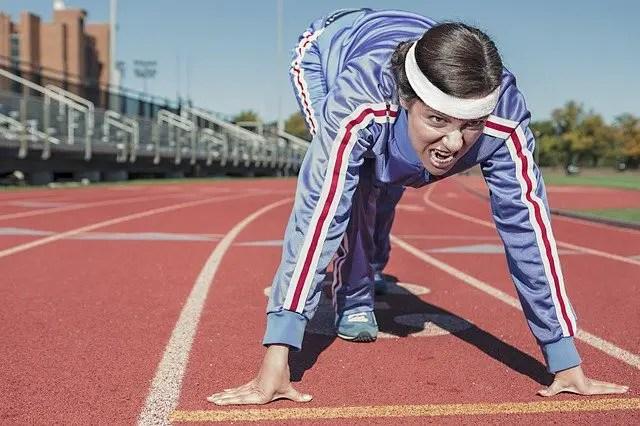 Woman passionate runner