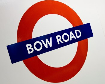 Bow Road Underground sign