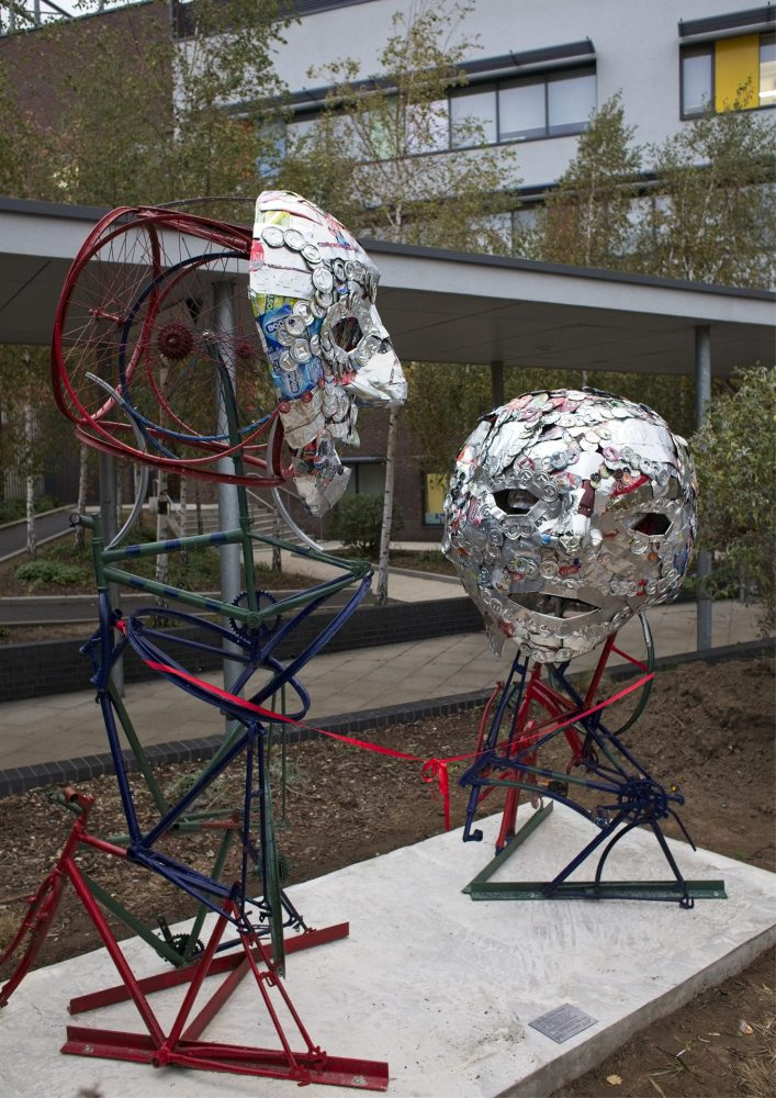 The finished Men's Health Sculpture at Bow School