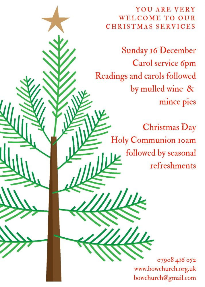 2018 Christmas services Bow Church